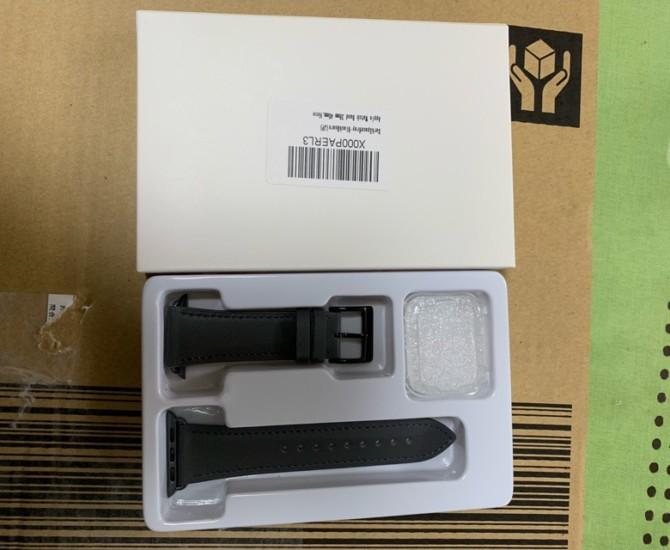 WFEAGL コンパチブル レザーバンド ダークスペースグレイ 40mm