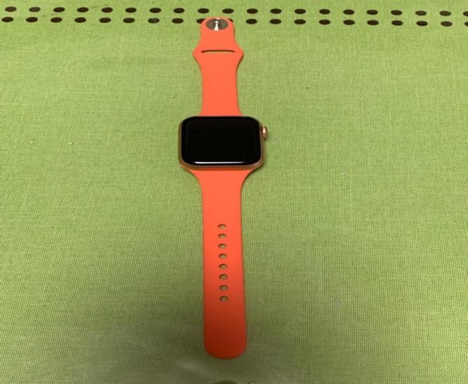 FRESHCLOUD コンパチブル シリコンバンド細身 オレンジ 40mm