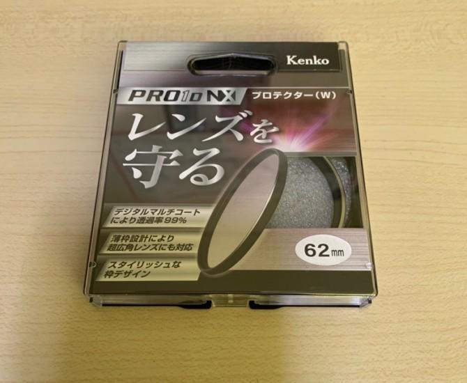 レンズ保護フィルター62mm