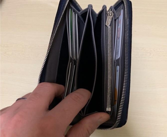 バリー長財布 収納