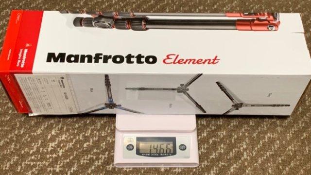 マンフロットのトラベル用三脚 Element