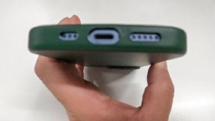 Apple純正品:Apple MagSafe対応 レザーケース (iPhone 13 Pro用) - セコイアグリーン
