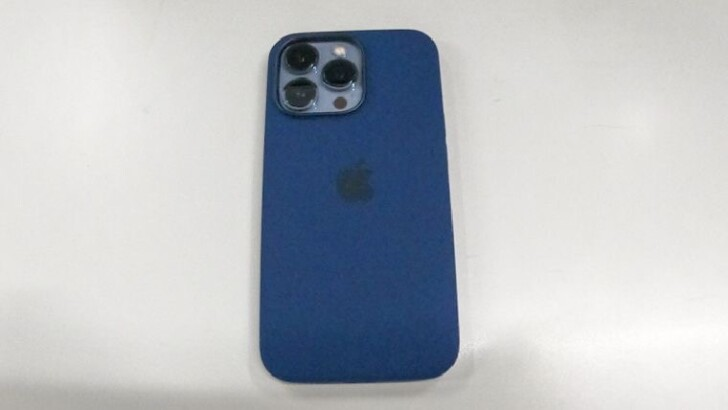 Apple純正品:Apple MagSafe対応 シリコーンケース (iPhone 13 Pro用) - アビスブルー